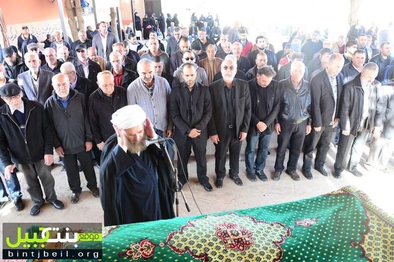 بنت جبيل شيّعت المرحوم الحاج محمد سعيد الحاج أحمد بزي (أبو نضال) إلى مثواه الأخير