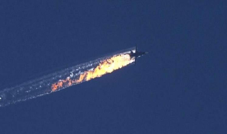 """القوى الجوية الروسية: مقاتلات تركيا نصبت كميناً في الأجواء لطائرة """"سوخوي 24"""" التي أسقطت"""