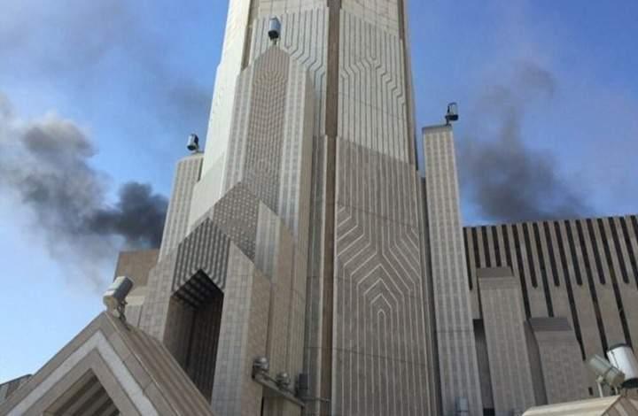 اندلاع حريق في مبنى التلفزيون السعودي قبيل مؤتمر الرياض