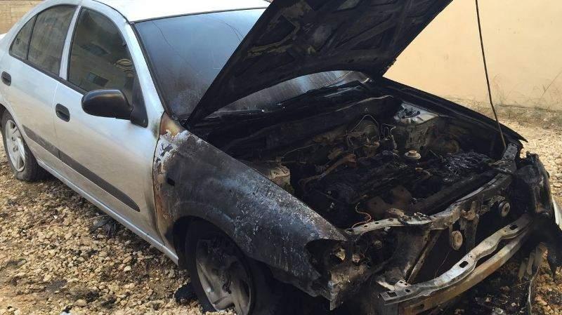 احراق سيارة احد كوادر المستقبل في عكار