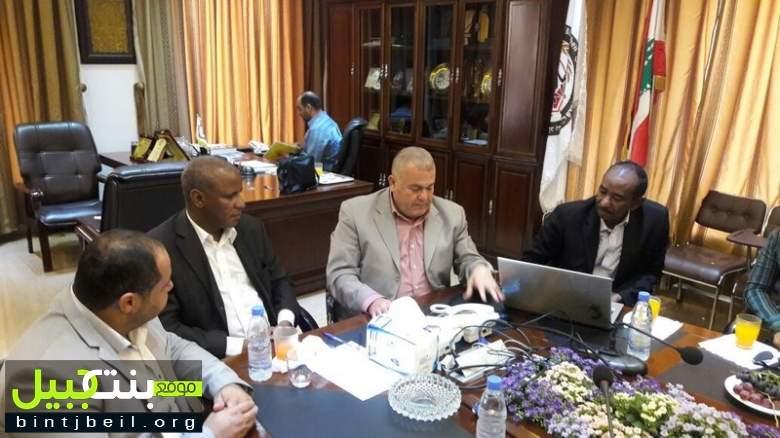 رئيس اتحاد بلديات قضاء بنت جبيل يستقبل وفداً موريتانياً