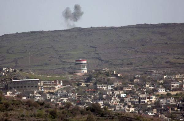 تظاهرة بالجولان السوري تنديدا بمساندة إسرائيل المسلحين بهجومهم على حضر