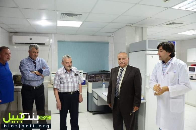 وفود إغترابية تزور مستشفى بنت جبيل الحكومي