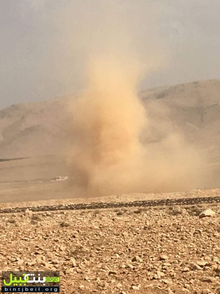 حركة رياح سريعة مصحوبة بغبار كثيف يشهدها البقاع