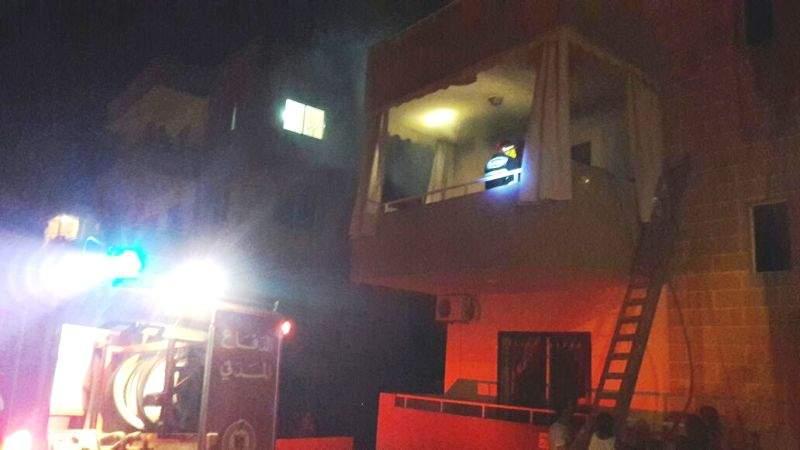 إندلاع حريق داخل شقة في مستيتا جبيل واسعاف امراة اصيبت بالاختناق