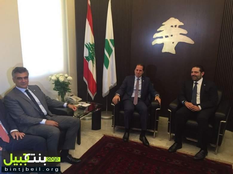 تصريح نائب رئيس حزب الكتائب د.سليم الصايغ بعد انتهاء الإجتماع الذي ضم الحريري و الجميل  في بيت الكتائب