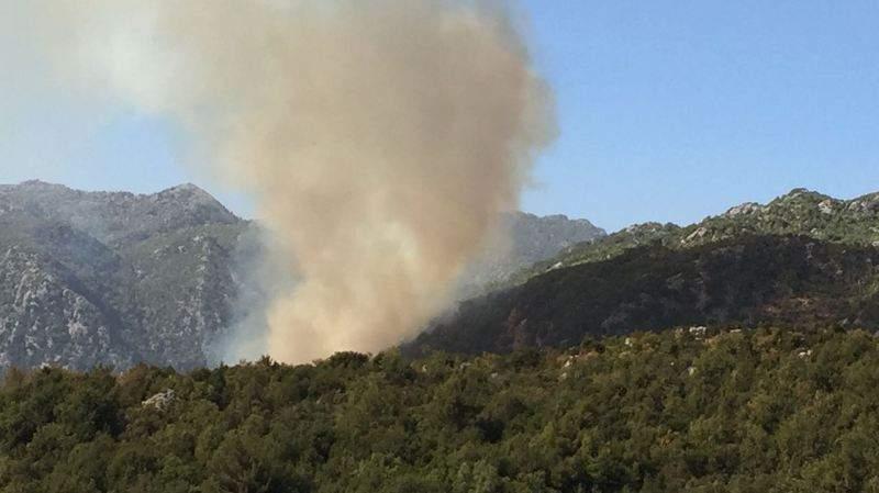 حريق كبير في وادي جنة والدفاع المدني يعمل على إخماده
