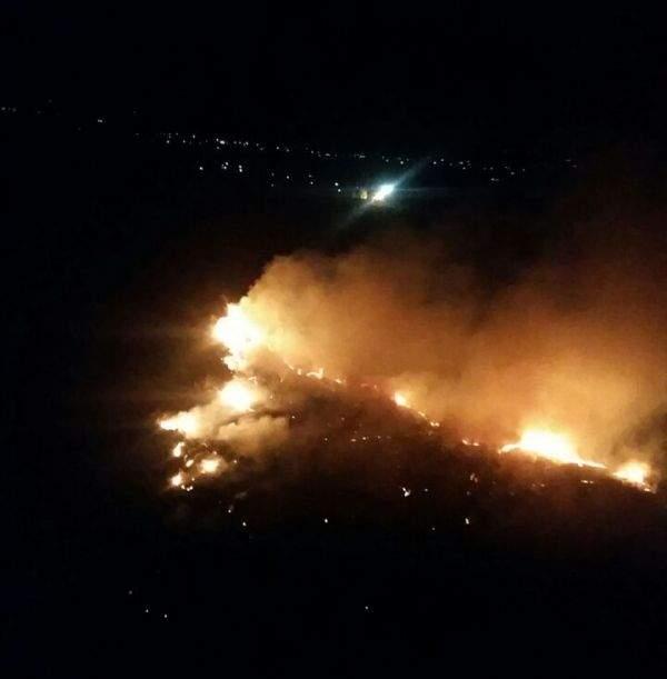 حرائق في أحراج سيدة القلعة منجز مشتعلة منذ ليل أمس