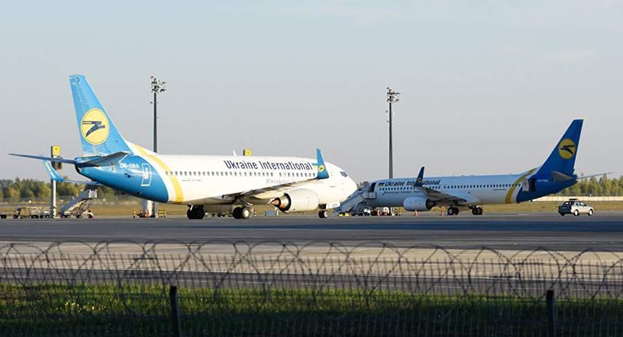 تهديد المقاتلات يجبر طائرة ركاب على العودة إلى مطار كييف