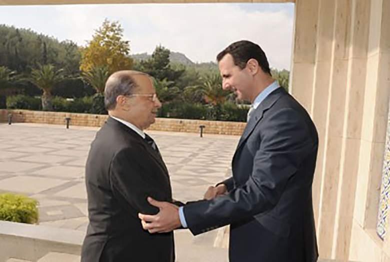 الرئيس السوري بشار الأسد اتصل برئيس الجمهورية ميشال عون مهنئاً بانتخابه