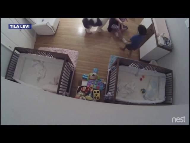 بالفيديو/ طفل شجاع يتلقف شقيقه الرضيع بعد سقوطه من سريره