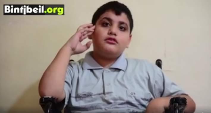 الطفل قاسم كان حلمه كرسي متحرك...وتحقق