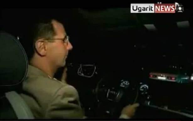 الاسد تجول في دمشق بسيارة عادية