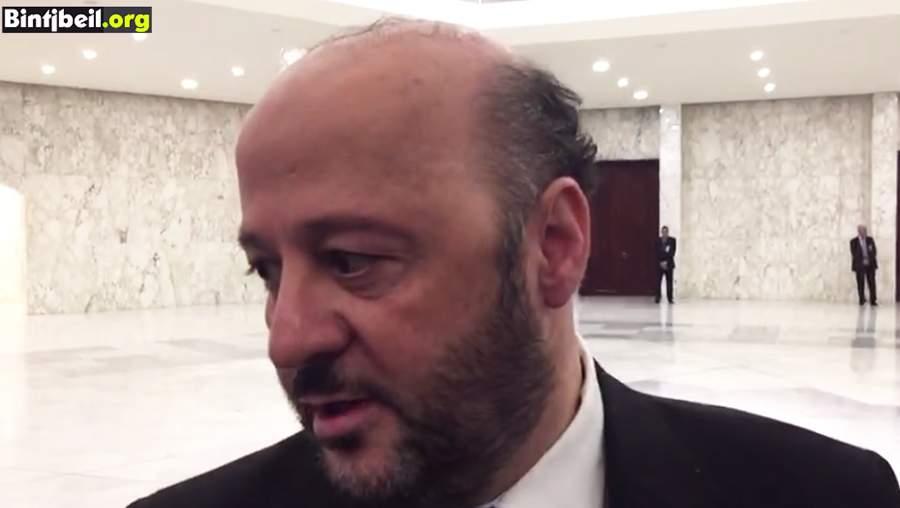 بالفيديو/ أول تصريح لوزير الإعلام اللبناني ملحم الرياشي لموقع بنت جبيل قُبيل بدء الجلسة الاولى للحكومة اللبنانية في القصر الجمهوري