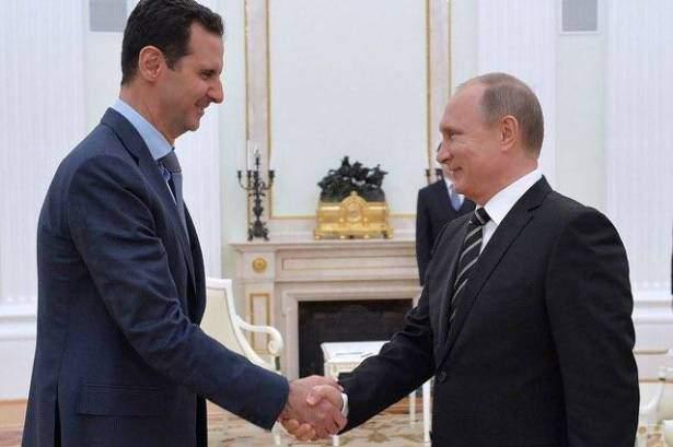 بوتين اتصل بالأسد مهنئاً ...