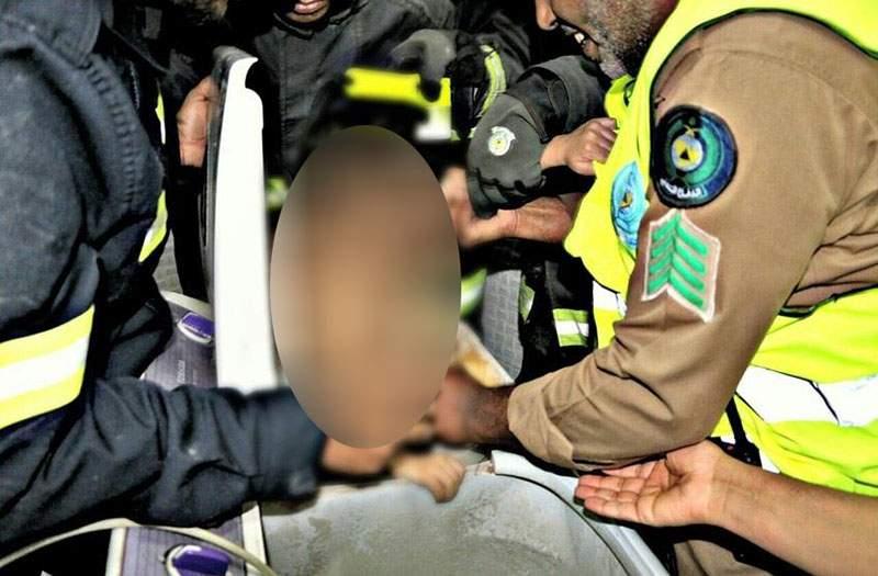 إنقاذ طفل في الرابعة علق داخل غسالة ملابس في جازان بالسعودية