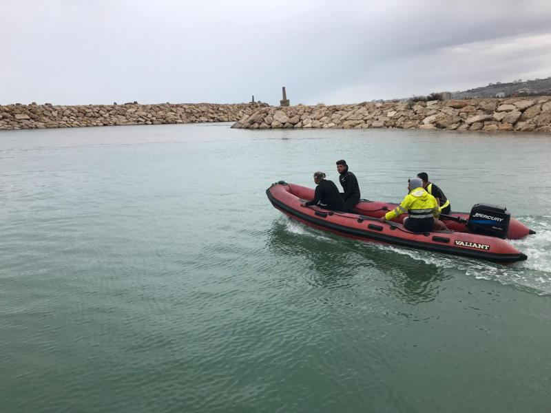 فقدان شابين في البحر مقابل معمل الجية من هواة الغطس وعمليات التفتيش قائمة