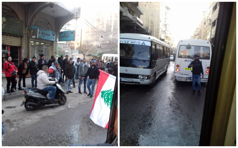 """محتجون ينطلقون من ساحة النور  إلى وسط بيروت للمشاركة بـ""""احد الرفض""""  تلبية للدعوات التي وجهت من قبل الحراك المدني!"""