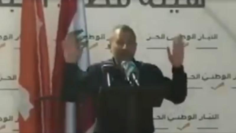 بالفيديو/ باسيل ينهي خطابه عند سماعه رفع الآذان إحتراماً في كفور النبطية
