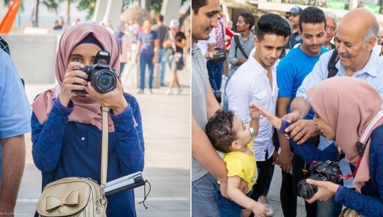 """بالصور/ """"إسراء يوسف"""" فتاة كفيفة تحقق حلمها وتقتحم مجال التصوير الفوتوغرافي!"""