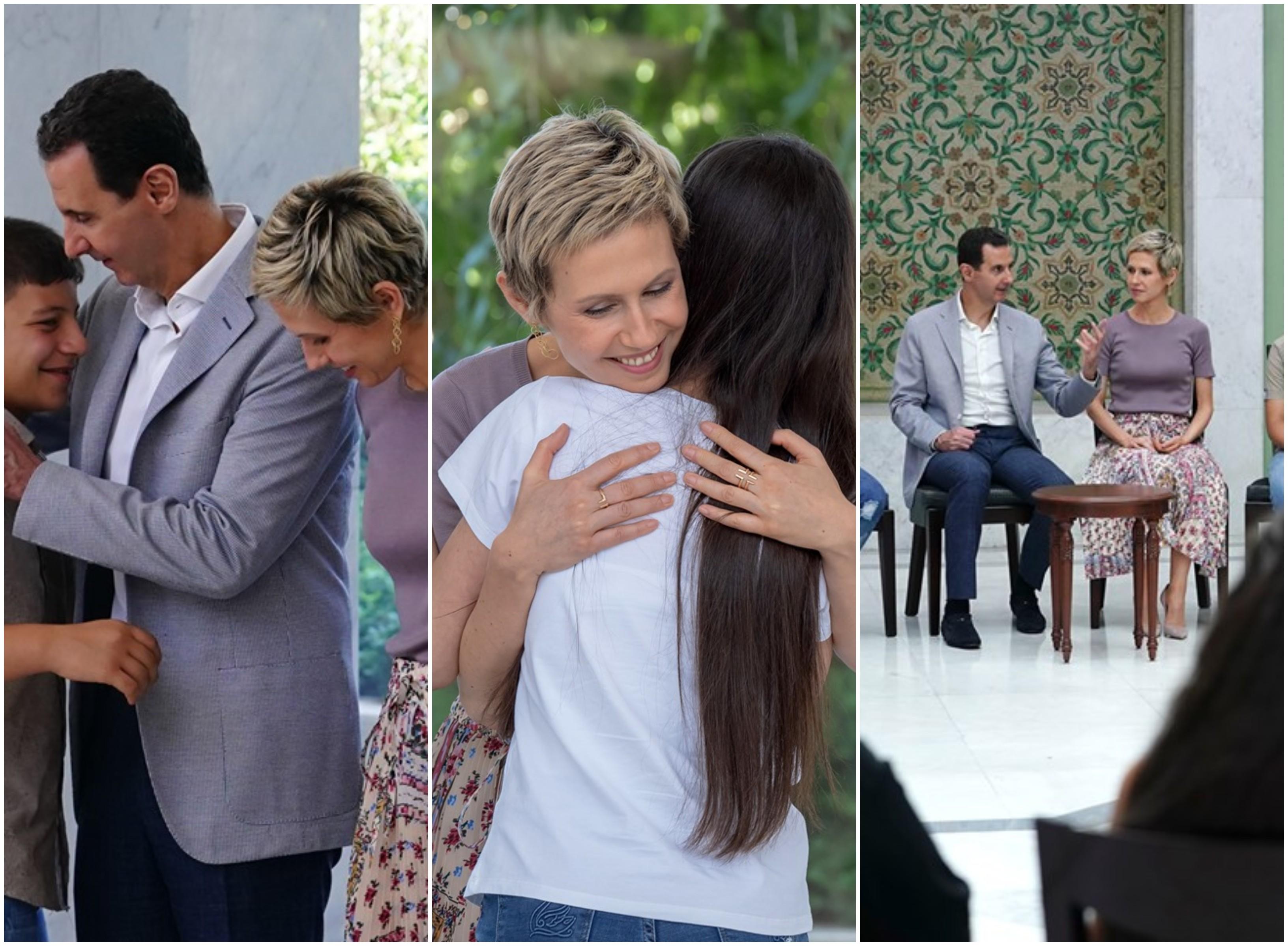 بالصور/ أول ظهور للسيدة أسماء الأسد إلى جانب الرئيس السوري بعد شفائها من السرطان