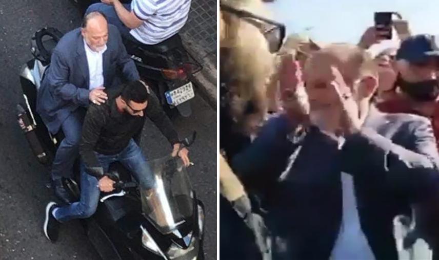 """بالفيديو / النائب علي عمار يشارك المتظاهرين بالـ """"الهيلا هو"""""""