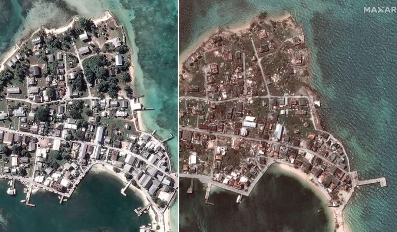 صور تكشف حجم الكارثة...هكذا بدا المشهد قبل وبعد الإعصار المُدمّر دوريان