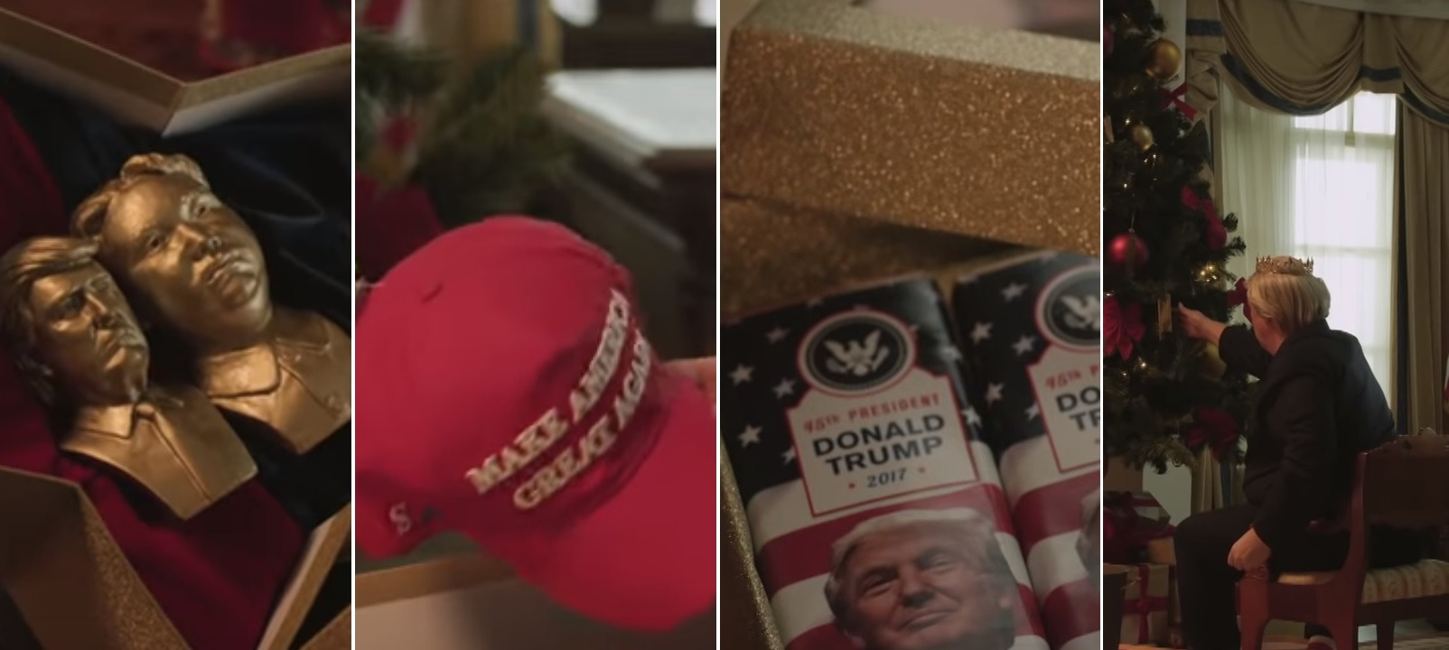 """RT"" تنشر فيديو ساخر حول هدايا تلقاها ""ترامب"" من زعماء العالم بمناسبة عيد الميلاد...والمفاجأة الهدية الروسيةّ!"