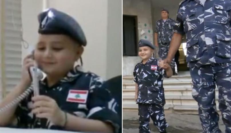 """بعد وفاة الطفل """"مهدي"""" المكافح للسرطان... قوى الأمن الداخلي نعته بكلمات مؤثرة وتعيد نشر فيديو له"""