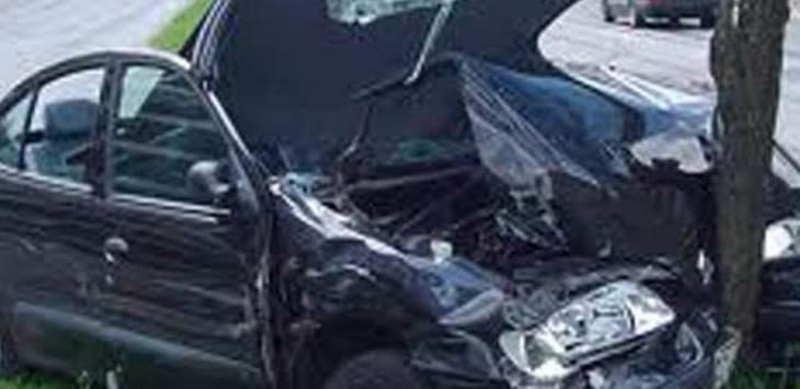 مقتل ابن شقيق النائب الدويهي بحادث مروع في زغرتا