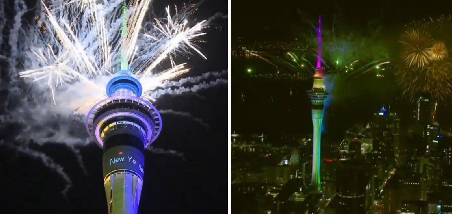 بالفيديو/  نيوزيلندا اول الدول التي دخلت العام الجديد 2020 وسط احتفالات وألعاب نارية