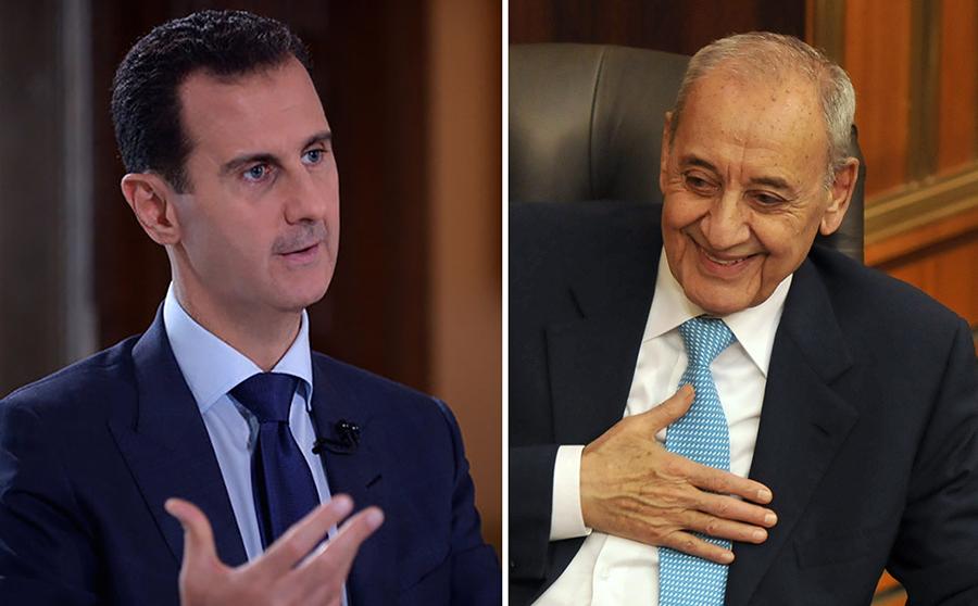 الأسد يوجه برقية لبري: أقدر لكم عواطفكم الصادقة في رؤية سوريا وهي تنعم بالأمن والإستقرار