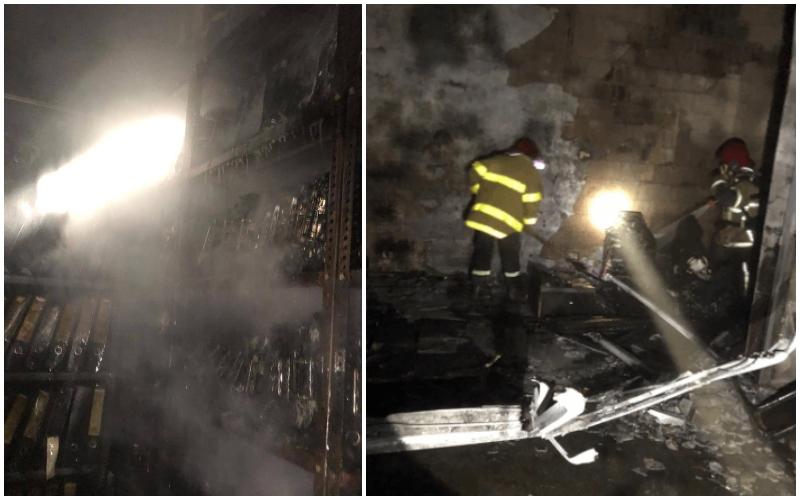 """بالصور/ حريق كبير في مركز """"اوجيرو"""" في حمانا أتى على جميع محتويات المركز... والتحقيقات جارية لمعرفة ما إذا كان الحريق مفتعلا ام لا"""
