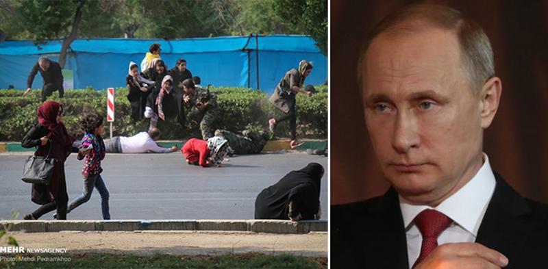 """بوتين يعزي روحاني بـ""""الجريمة الدامية""""...ويؤكد استعداد موسكو تفعيل التعاون مع طهران في مكافحة الإرهاب"""