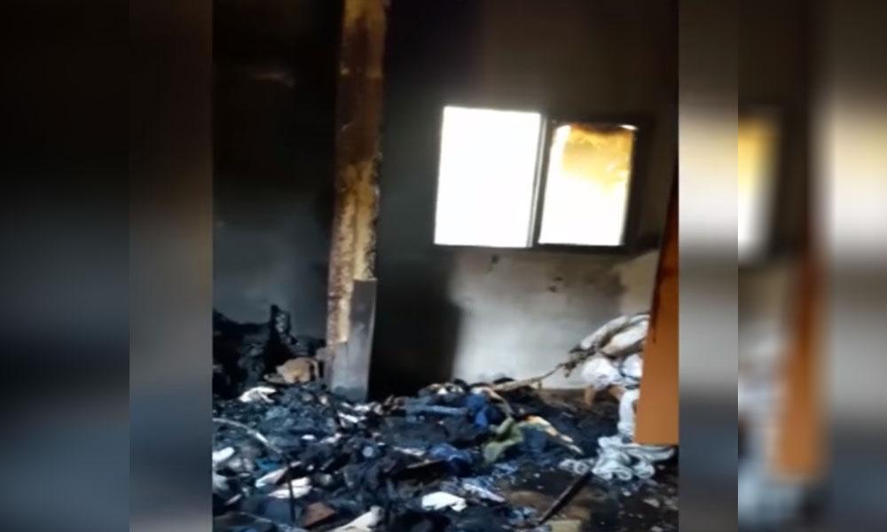 العناية الالهية أنقذت عائلة لبنانية مؤلفة من 7 أفراد بعد احتراق منزلهم بالكامل في مدينة صور