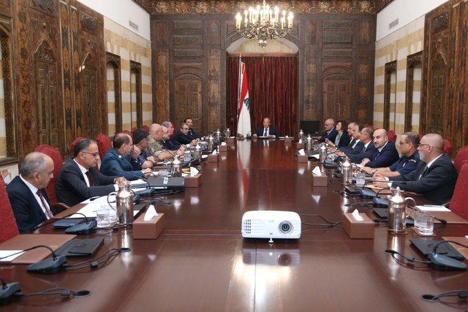 المجلس الأعلى للدفاع تابع موضوع المسيّرتين فوق الضاحية وأكّد حق اللبنانيين في الدفاع عن النفس بكلّ الوسائل