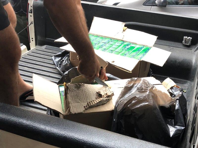 بالصورة/ بعد رصد سيارة مشبوهة..الحرس البلدي في الشويفات يضبط كمية من الادوية المخدرة الممنوعة مخبأة في أحد أحياء المنطقة