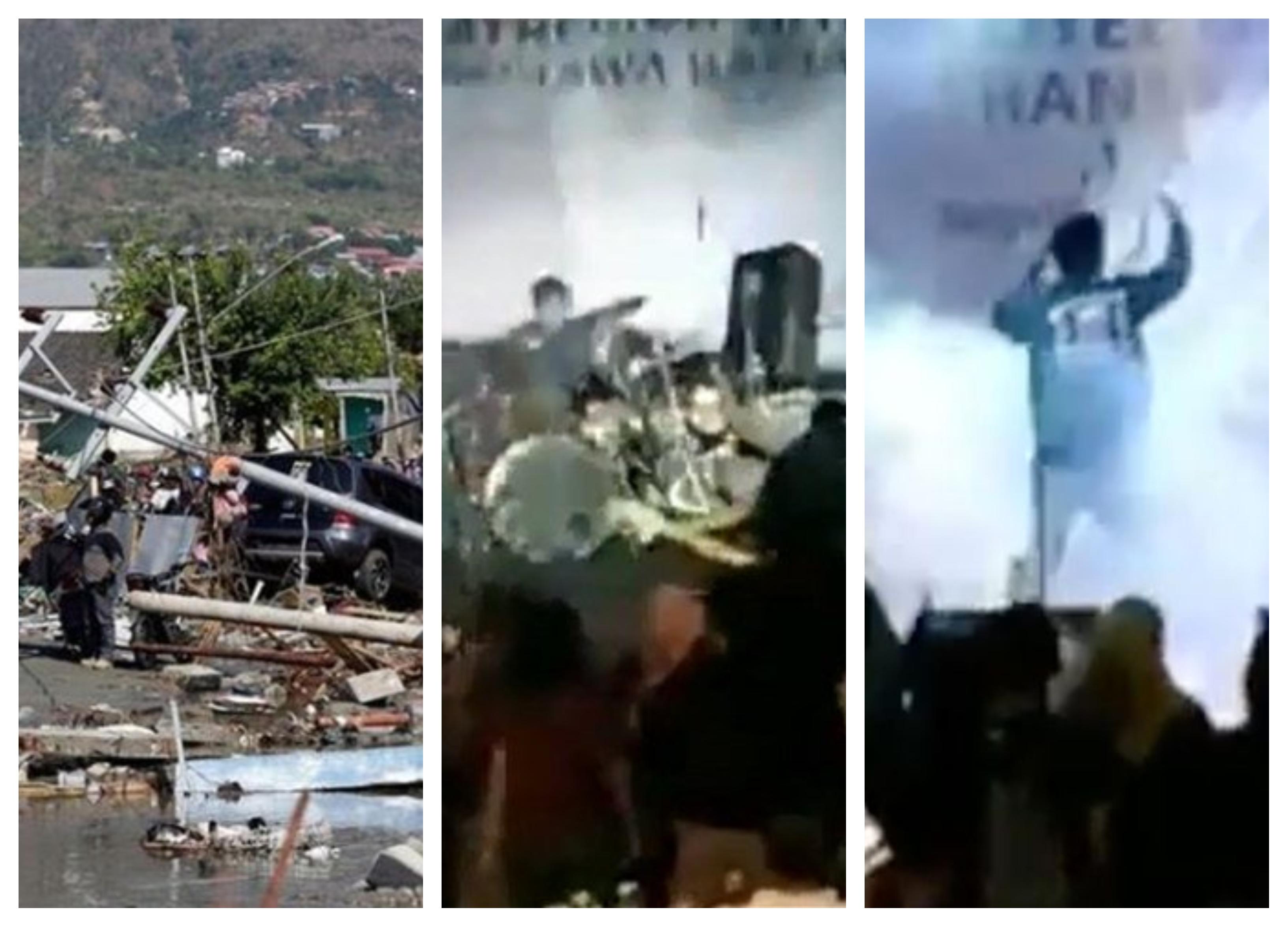 بالفيديو/ تسونامي قاتل ضرب اندونيسيا مخلفا 62 قتيلا وفيديو مرعب يظهر لحظة ابتلاع حفل موسيقي بأكمله بالأمواج الضخمة