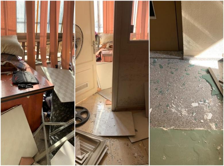 بالصور/ هكذا بدا مبنى المركز الإعلامي لحزب الله في الضاحية الجنوبية بعد انفجار الطائرة الإسرائيلية المسيرة الثانية