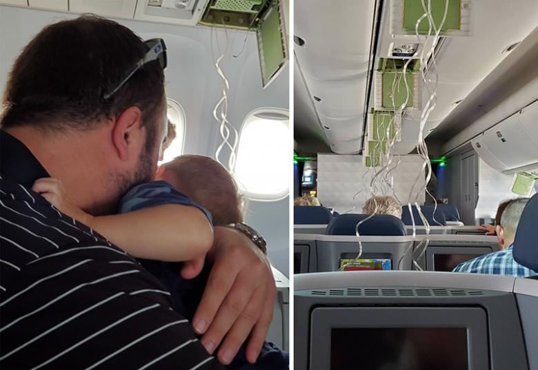 بالصور/ لحظات مرعبة عاشها ركاب طائرة بعدما هوت بشكل مفاجئ من ارتفاع 12 ألف متراً!