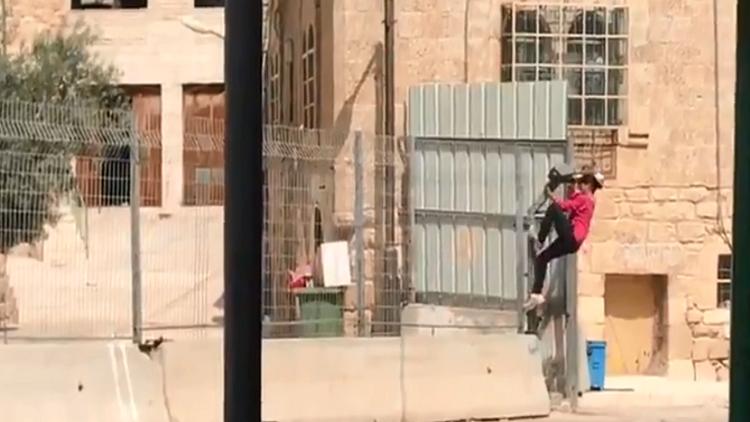 بالفيديو/ رحلة عودتها إلى المنزل عبارة عن معاناة يومية... طفلة فلسطينية تتسلق حاجزا أمنيا للوصول إلى بيتها