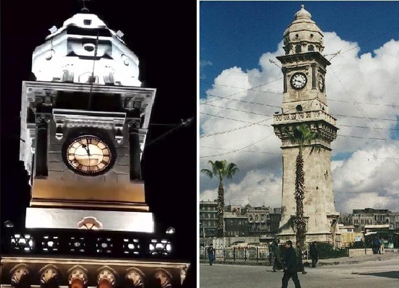 """بالفيديو/ لأول مرة منذ 50 عاما..  أجراس """"بيغ بن حلب"""" تنبض من جديد!"""