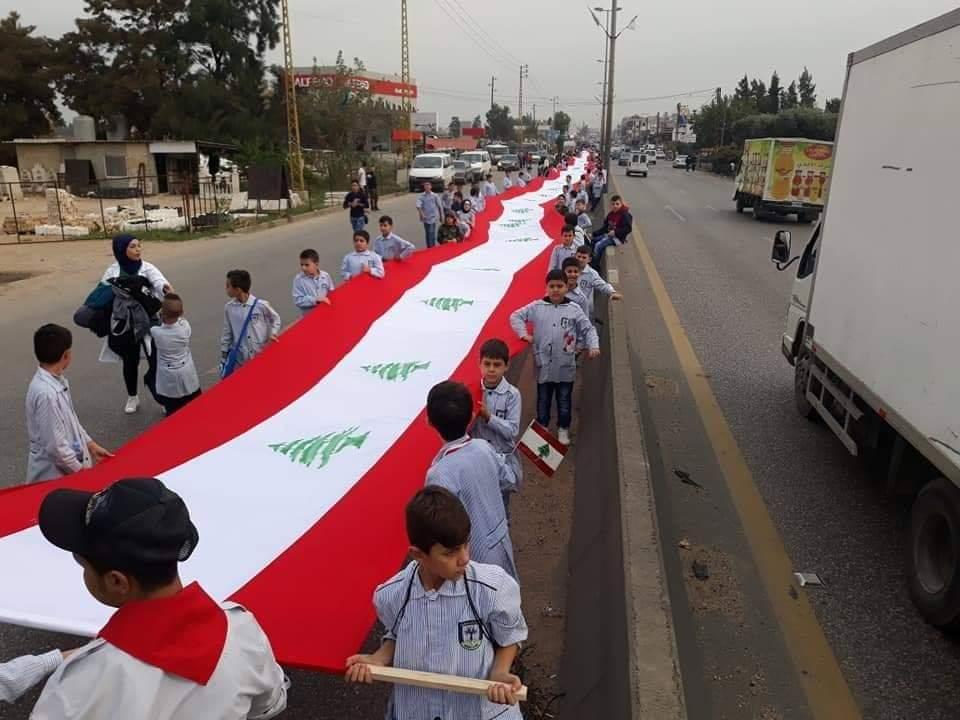 العلم اللبناني على مساحة الوطن...اطلاق اطول علم في العالم في المنية