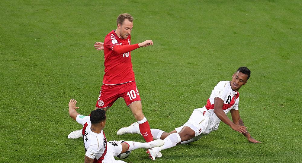 الدنمارك يفوز على البيرو في أول مباراة له في مونديال 2018...هدف مقابل صفر