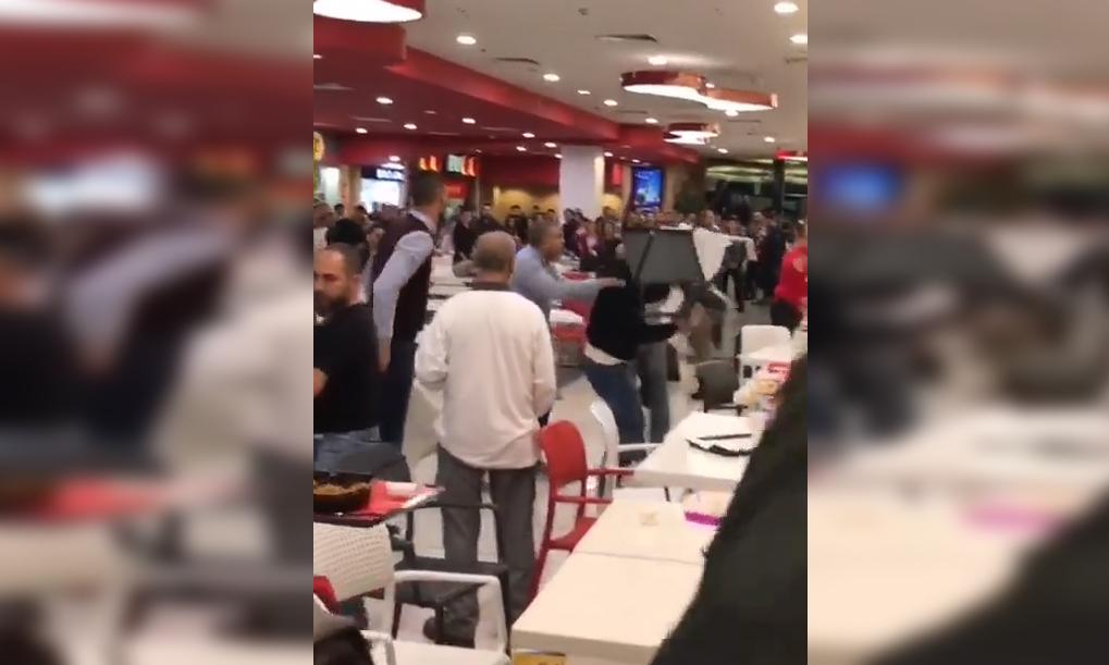 بالفيديو / اشكال وتضارب عنيف في سيتي مول