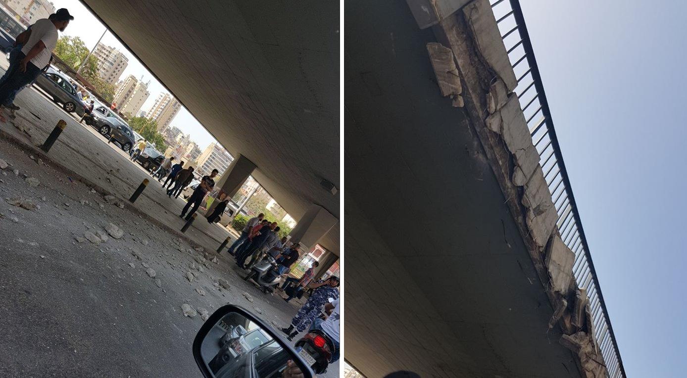 توضيح من بلدية بيروت: الفرق الفنية كشفت على جسر الكولا ولا خطر على السلامة العامة