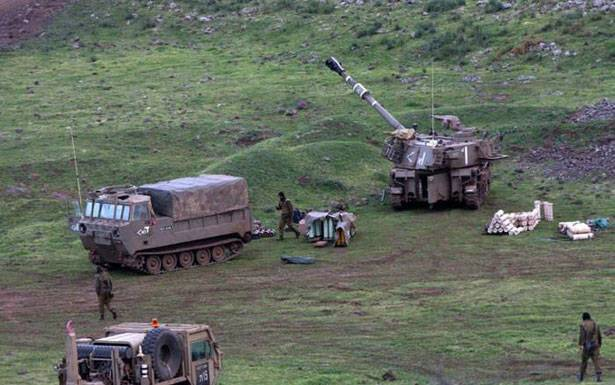 مناورة للعدو الإسرائيلي في مزارع شبعا المحتلة واطلاق منطاد في أجوائها