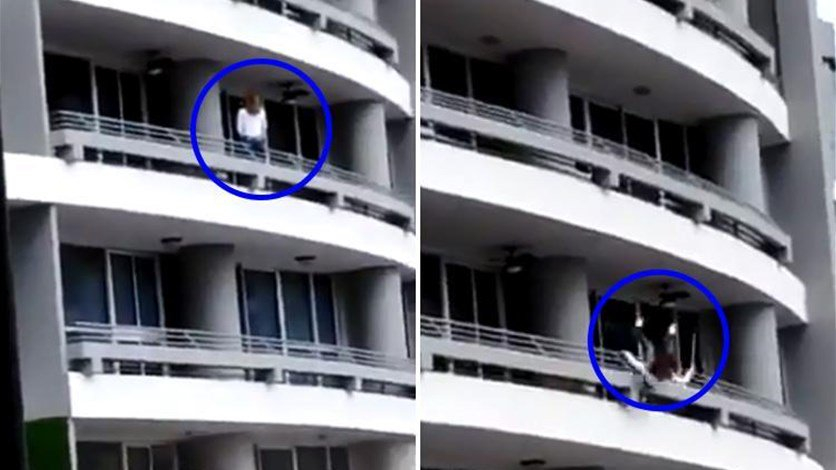 """بالفيديو/ """"سيلفي"""" كلفتها حياتها... """"ساندرا"""" أم لطفلين سقطت من الطابق الـ27 وتوفيت على الفور!"""