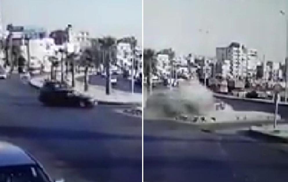 بالفيديو/ لحظة وقوع حادث سير مروّع على الكورنيش البحري لمدينة صيدا.. أسفر عن إصابة 6 أشخاص بينهم طفلين صغيرين