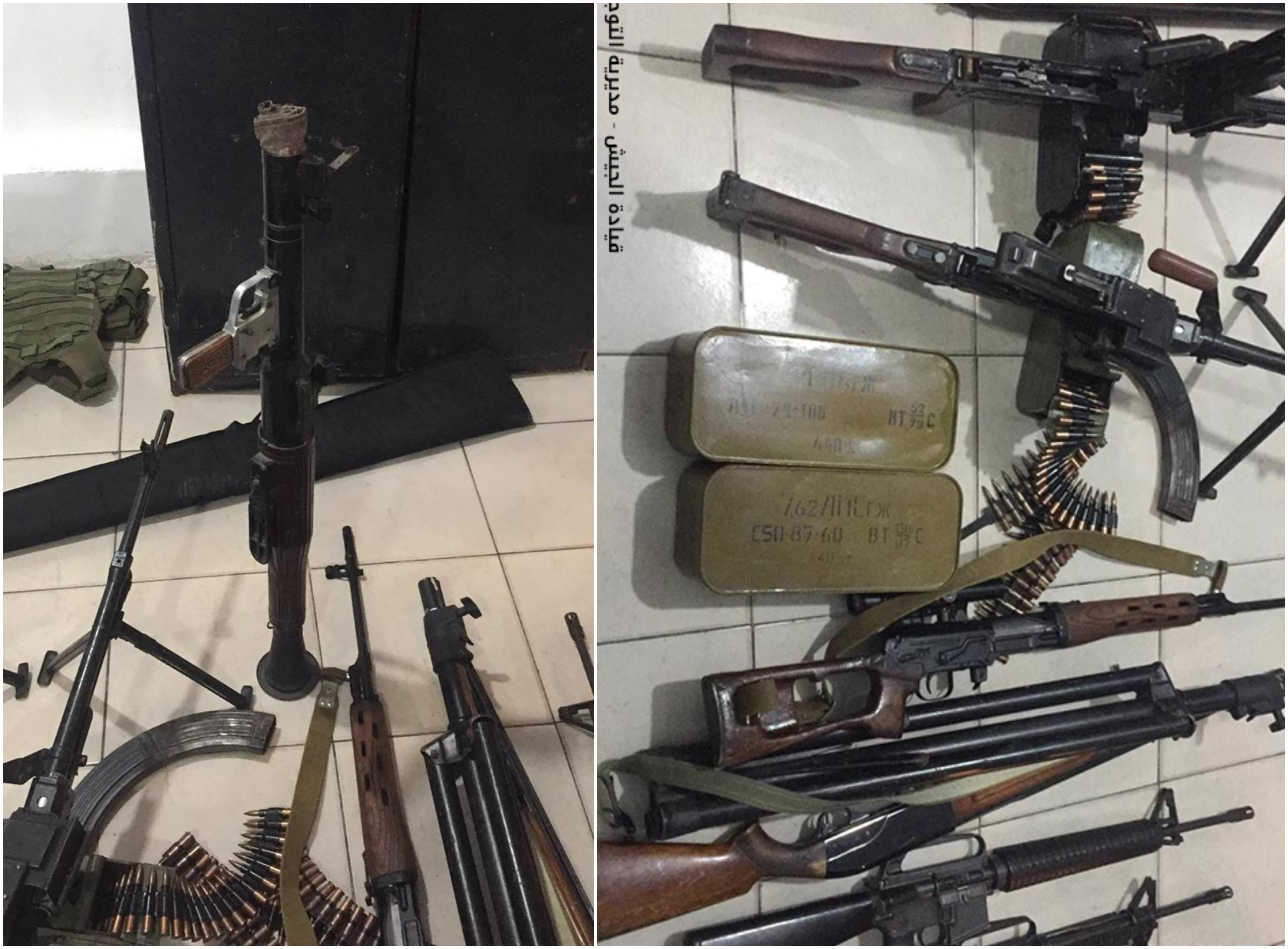 """بالصور/ الجيش يوقف """"رابيد"""" محمل بقذائف """"أر بي جي"""" وكمية كبيرة من الذخائر في عكار...ومواطن مرتبط بتجارة الأسلحة ضبطت في منزله كمية من الأسلحة الحربية في المنية!"""